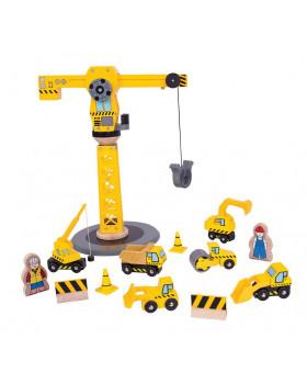 Daru építkezési gépekkel