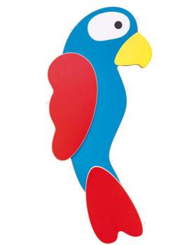 Zsinóros faliújság - Papagáj (50 x 95 cm)