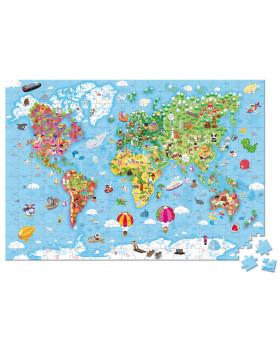 Nagy puzzle - Világtérkép