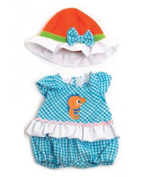 Babaruha - Kék szett kislánynak 32 cm