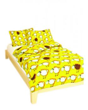 Ágynemű IDEÁL - báránykák - sárga