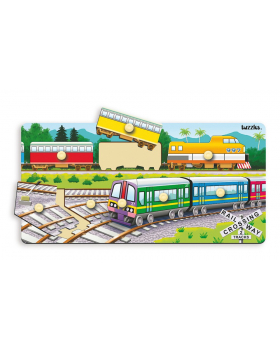 Beillesztő puzzle - vonatok