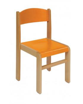 Bükkfa szék - ülésmagasság 31 cm -  narancssárga