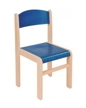 Fa szék JUHAR - ülésmagasság 35 cm - kék