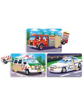 Beillesztő puzzle - mentő autók