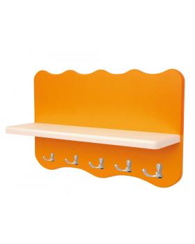 Színes falipolc Hullám - narancssárga