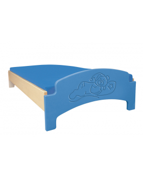 Fektető matrac nélkül/kék/alvó maci
