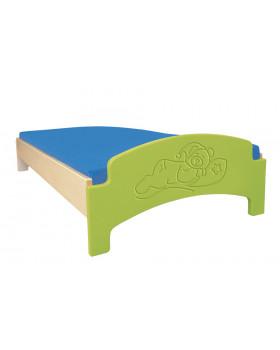 Fektető matrac nélkül/zöld/alvó maci