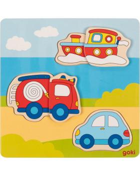 3D puzzle kirakó- Járművek