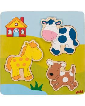 3D puzzle kirakó- Farm